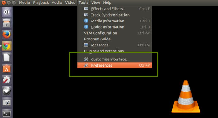 Enable VLC desktop notification in Ubuntu