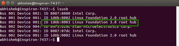 How to find if system has USB 3.0 in Linux