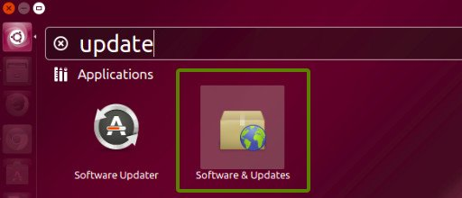 Ubuntu Software Update Settings