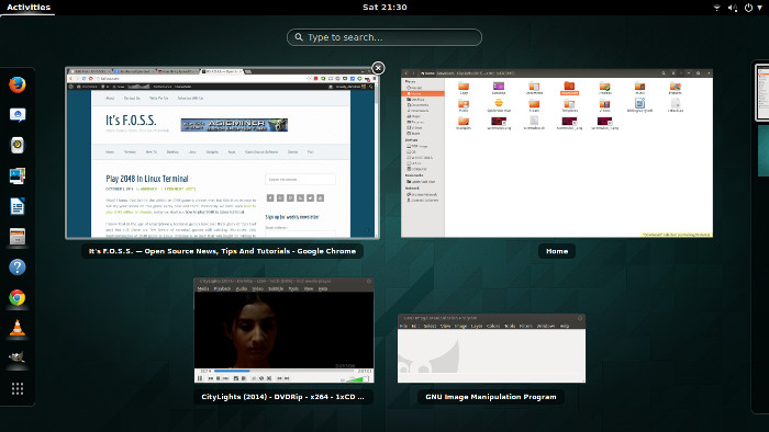 Window spread Linux Gnome