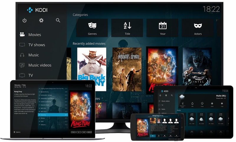 Kodi on various devices