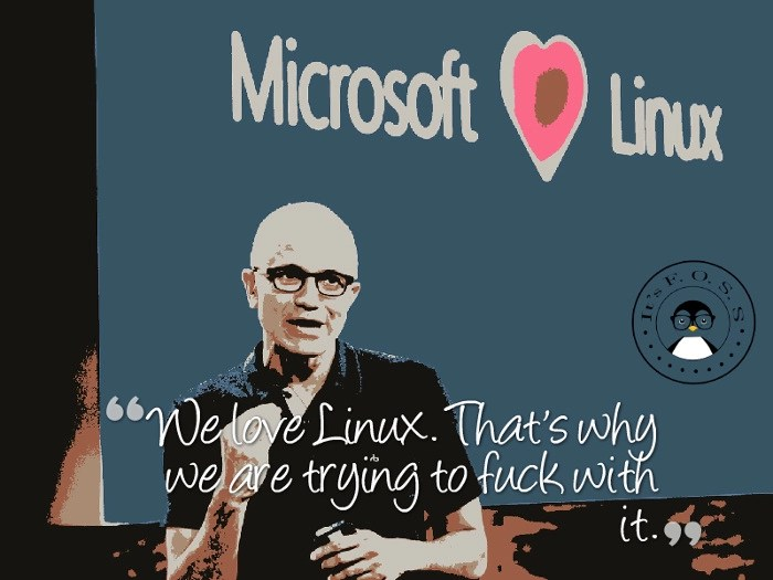 Microsoft loves Linux funny