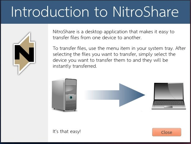 Install and run NitroShare in Ubuntu