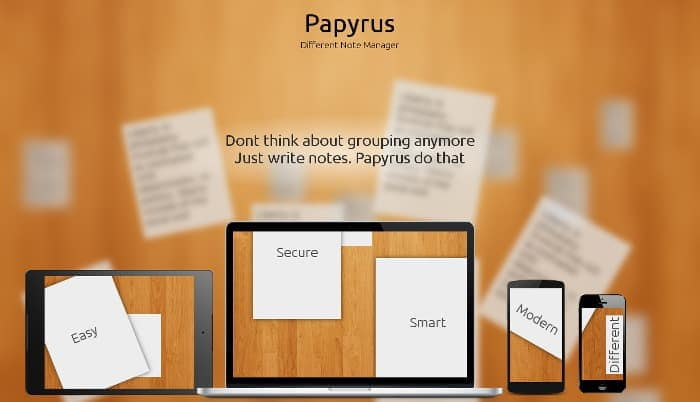 Papyrus Note Taking App