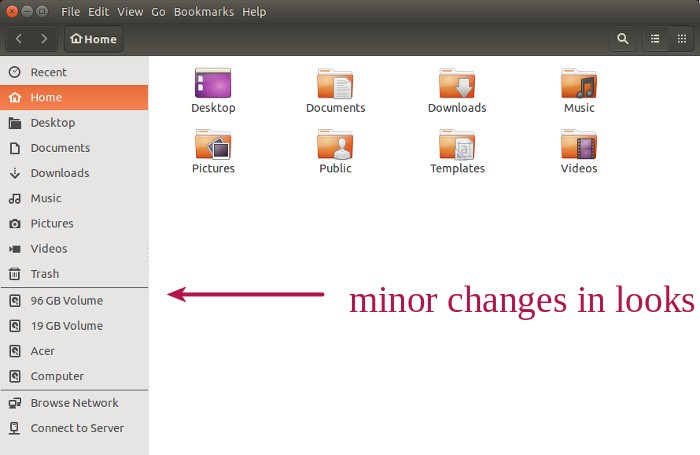 Nautilus changes in Ubuntu 15.04