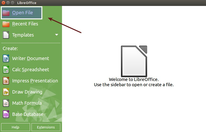 Open PDF files in LibreOffice