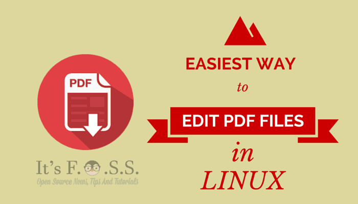 How to edit PDF files in Ubuntu Linux