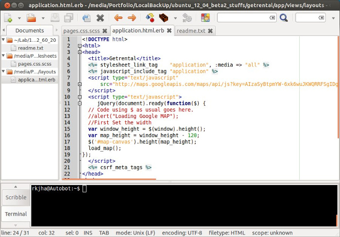 geany text editor ubuntu can replace Notepad++ in Linux