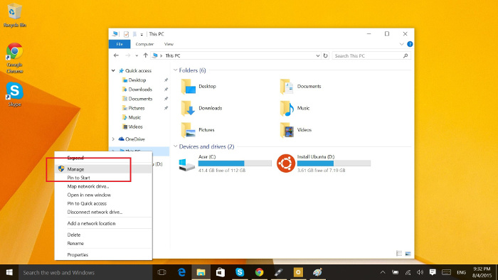 Know partition type in Windows