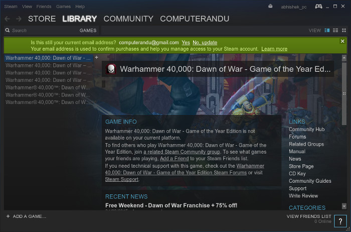 Using Steam to play games on Linux