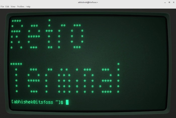 Retro Terminal in Linux