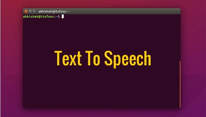 Text to speech tool in Linux