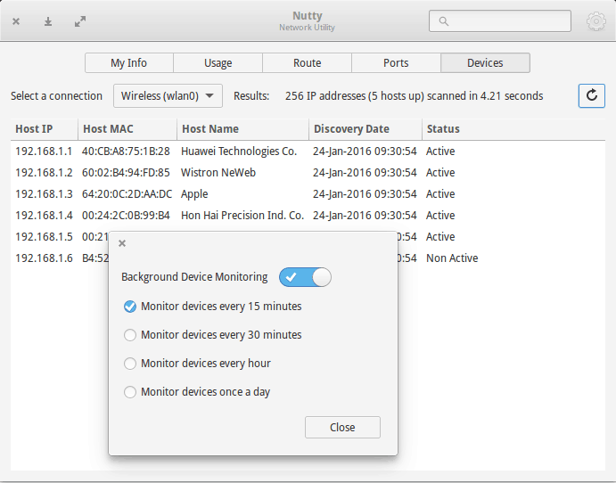 Monitor network devices with Nutty