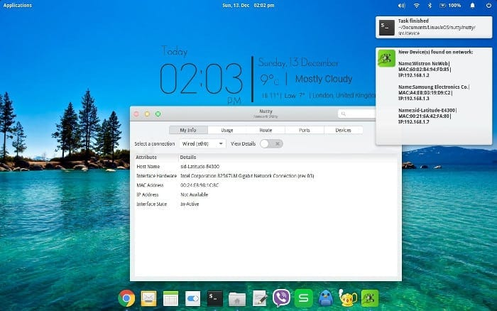 Desktop notification for device discovery