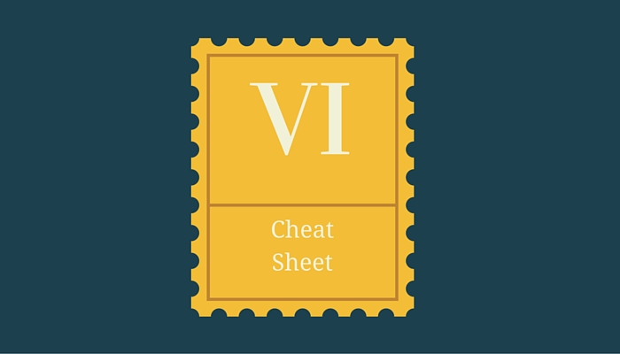 Download Vi cheat sheet