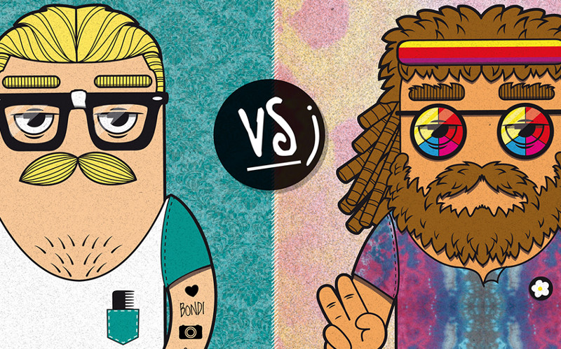 Hippies vs Hipster