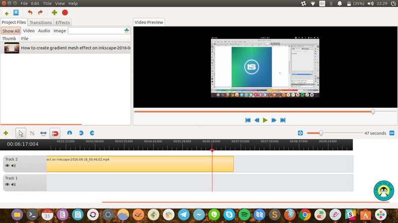Openshot free video editor on ubuntu