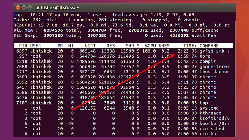 gvfsd-smb-+ taking 100% CPU in Ubuntu 16.04