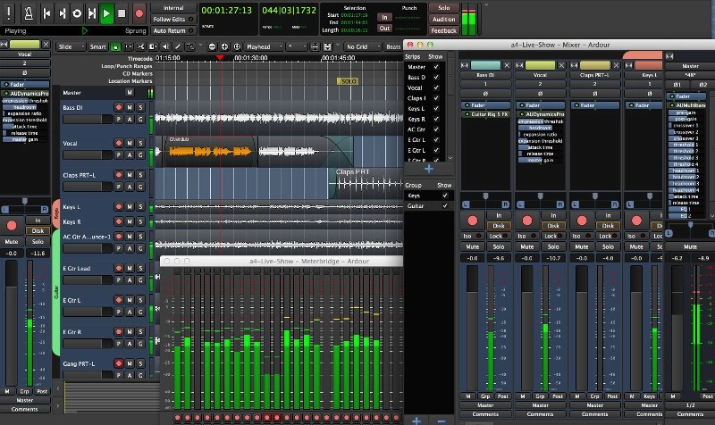 Ardour audio editor alternative to Adobe Audition