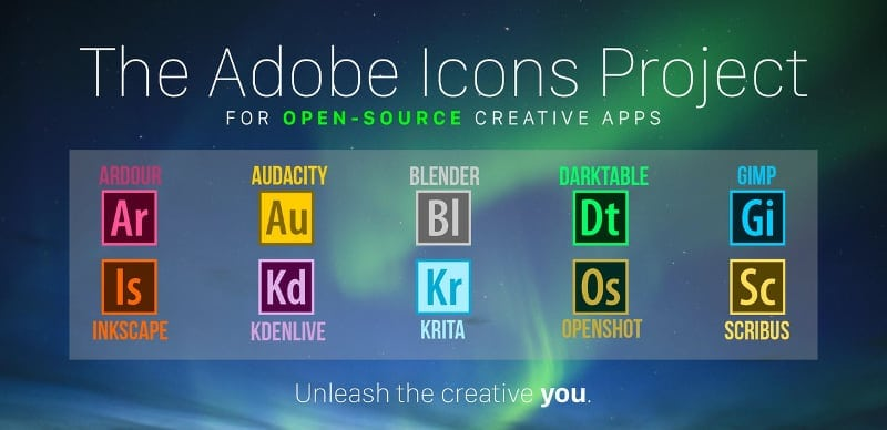 Adobe icons for open source projects