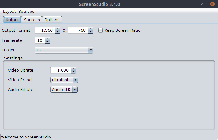 ScreenStudio Interface