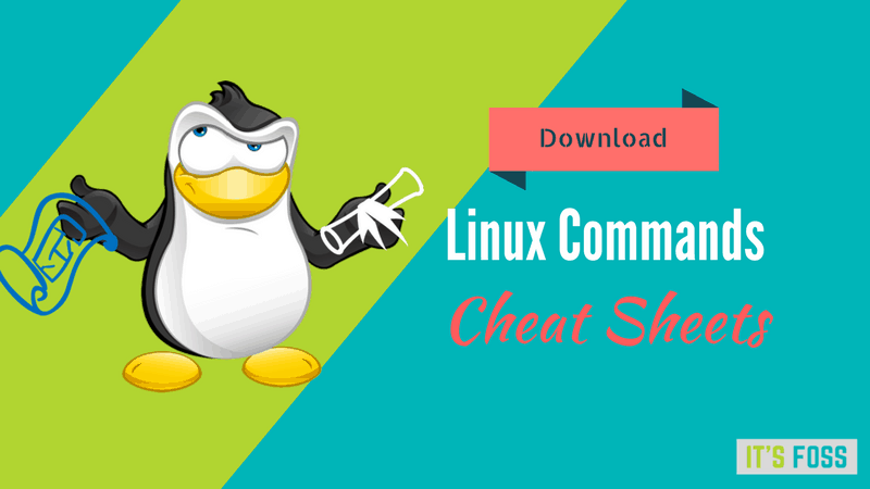 Download free Linux command cheat sheets