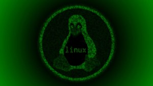 Linux Tux Green Matrix wallpaper