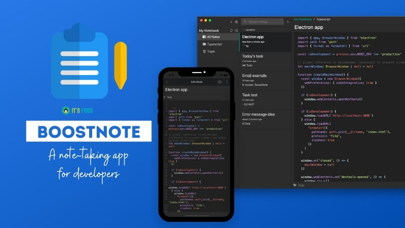 Boostnote: Open Source Note Taking App For Programmers