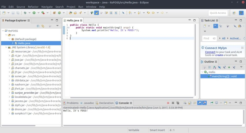 Eclipse IDE Interface