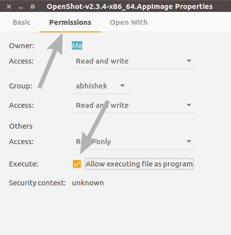Run AppImage files in Ubuntu Linux