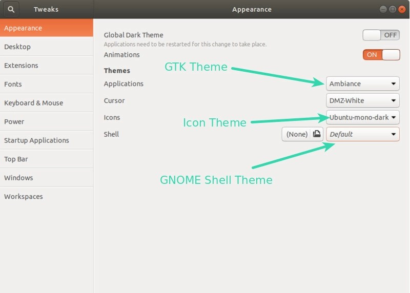How to change themes in Ubuntu