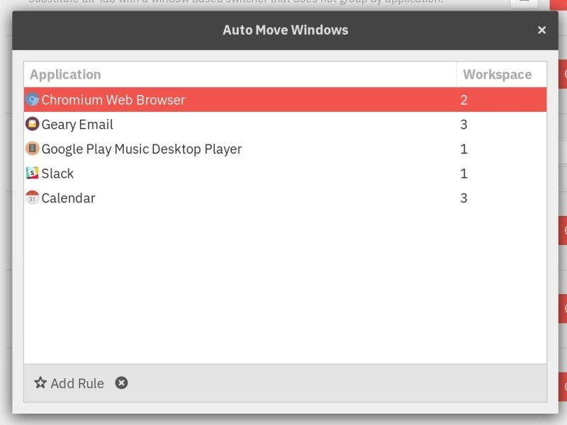 auto move windows GNOME extension