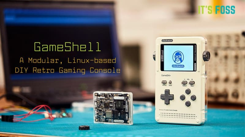 GameShell is a Game Boy Styled Retro Gaming Console Based on Linux