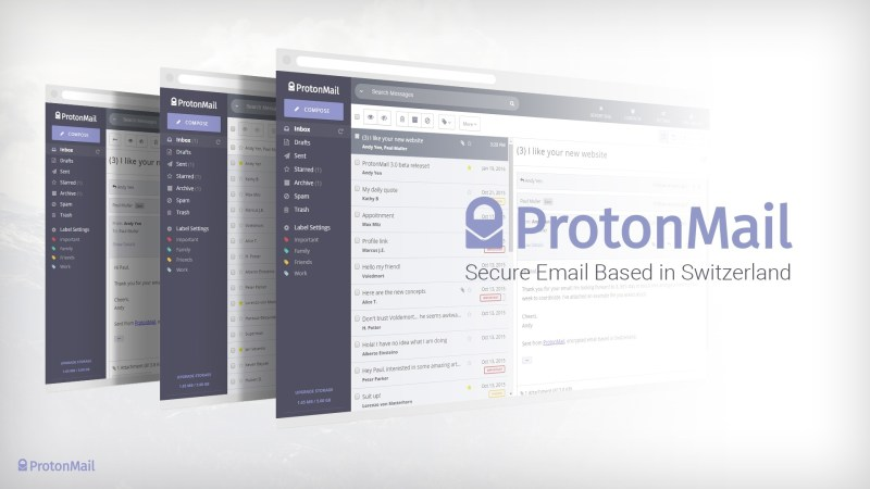 ProtonMail email service provider