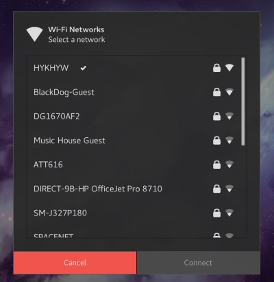 Refresh WiFi network with GNOME extension