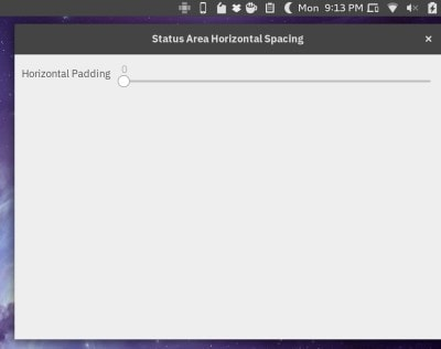 Status Area Horizontal Spacing GNOME Extension