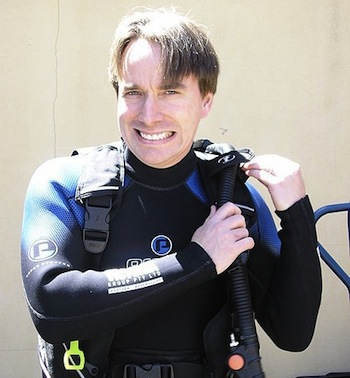 Linus Torvalds in Scuba Gear