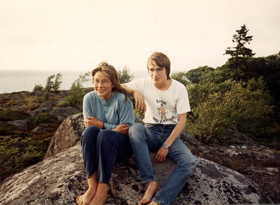 Linus Torvalds with sister Sara Torvalds