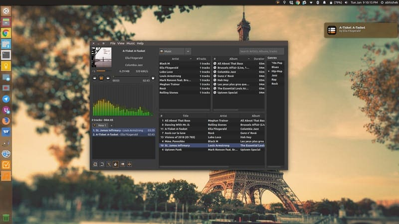 Sayonara music player desktop integration