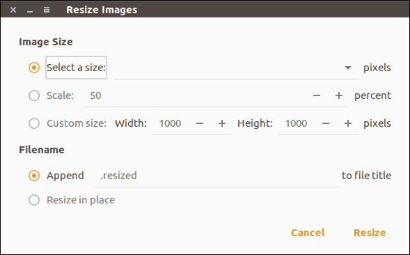 Resize image in right click menu in Nautilus on Linux