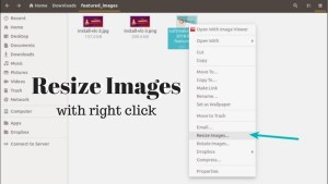 Resize images with right click in Linux