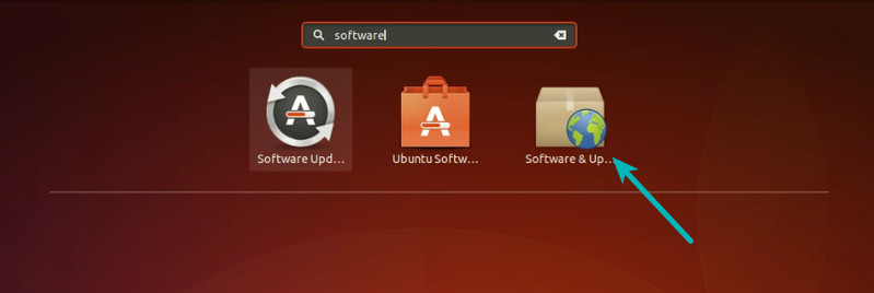Software and Updates in Ubuntu
