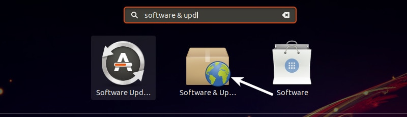 Software & Updates in Ubuntu GNOME