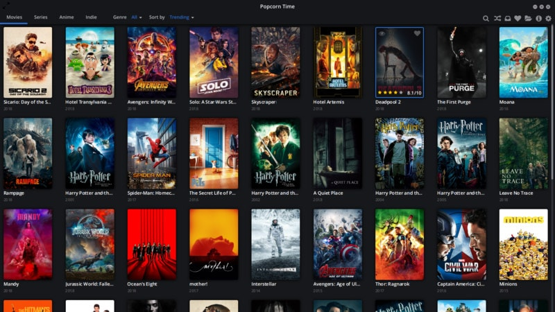 Popcorn Time in Ubuntu Linux