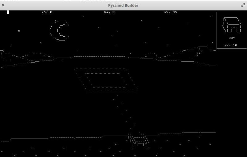 Pyramid Builder ascii game for Linux