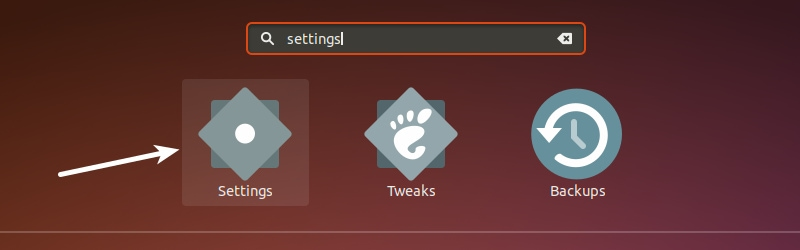 Ubuntu 18.04 System Settings