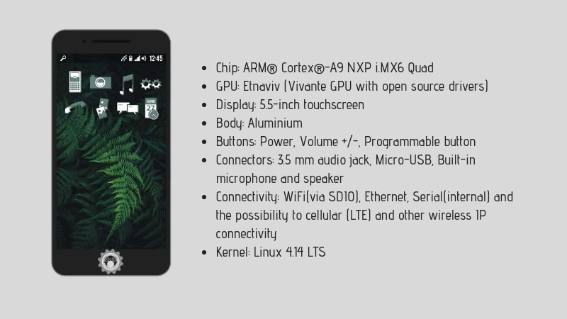 Specifications for Necuno Linux based Smartphones