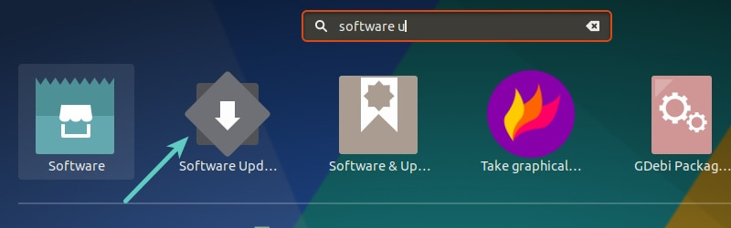 Run Software Updater in Ubuntu