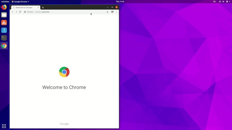 Google Chrome running in Ubuntu Linux