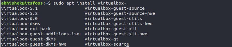 Install VirtualBox via terminal